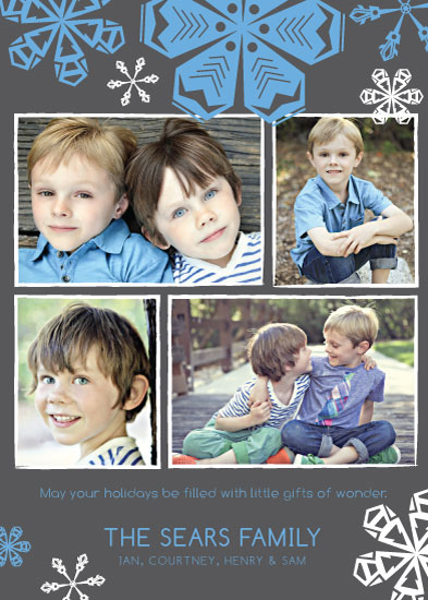 holiday photo cards - Cool Winter Snowflakes by Courtney Smith
