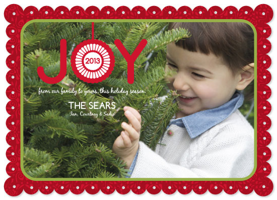 holiday photo cards - Joy Ornament by Courtney Smith