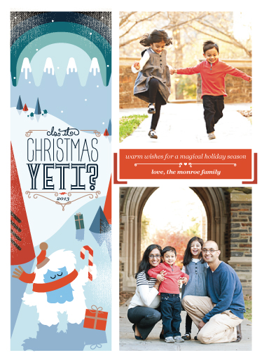 holiday photo cards - Is It Christmas Yeti? by Gretchen Cobaugh