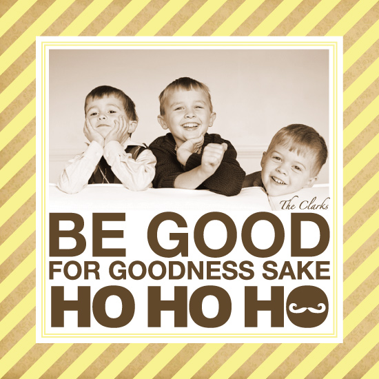 holiday photo cards - Be good for goodness sake santa by PAPERlicious