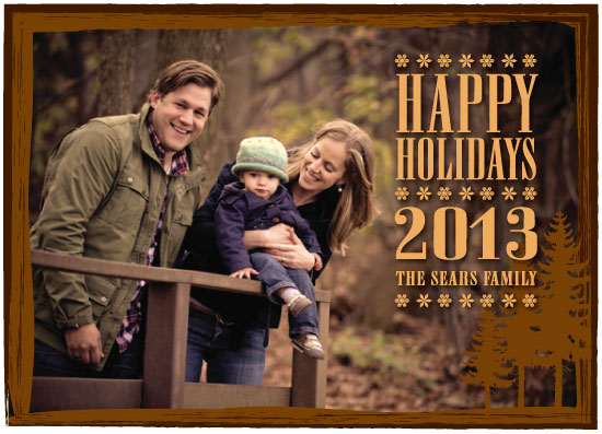 holiday photo cards - Wood Forest by Courtney Smith