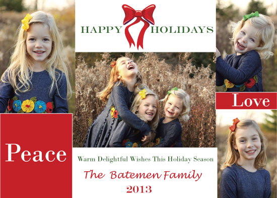 holiday photo cards - Tradition Family Holiday by Pamela Rockett
