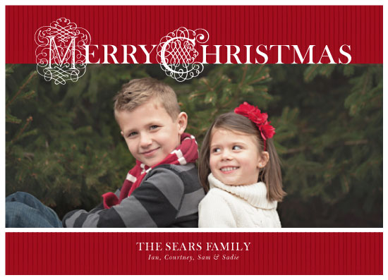 holiday photo cards - Traditional Merry Christmas by Courtney Smith