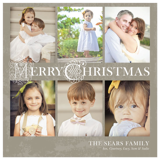 holiday photo cards - Rustic Merry Christmas by Courtney Smith