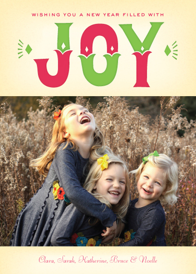 holiday photo cards - Joyful 2014 by Portia Monberg