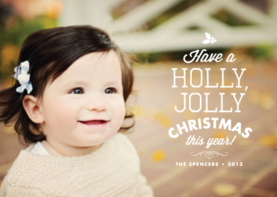 holiday photo cards - The Jolly Type by Paper and Parcel