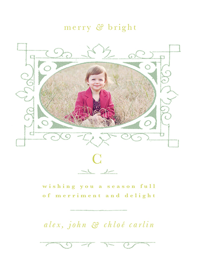 holiday photo cards - Merriment and Delight by A Plume to the Wind