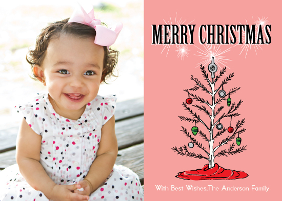 holiday photo cards - Retro Christmas Tree Photo Cards by Tilia Press