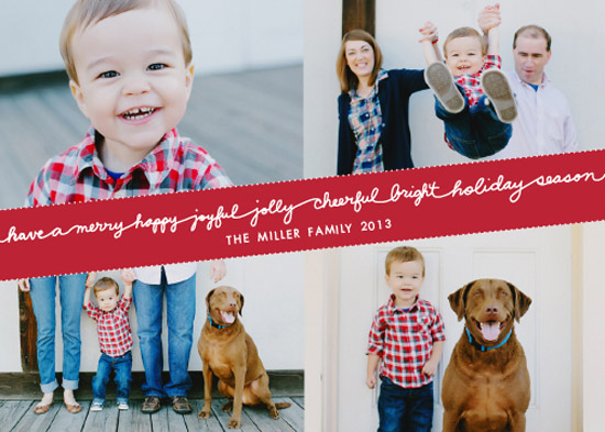 holiday photo cards - Merry Little Sayings by Paper Lovely