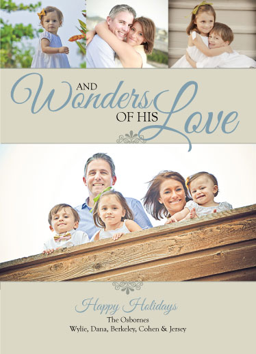 holiday photo cards - Wonders of His Love by Dana Osborne