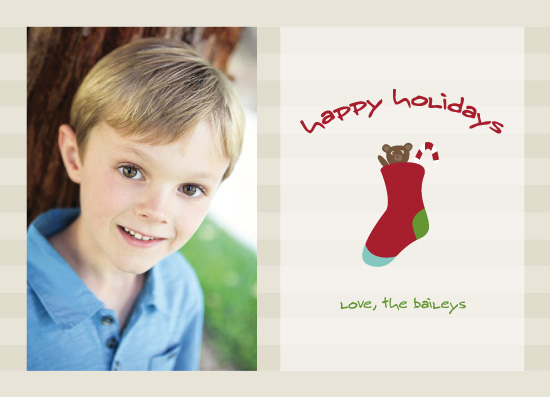 holiday photo cards - Teddy & The Candy Cane by Erin Cline