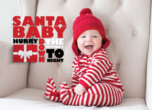 holiday photo cards - Santa Baby...TOnight! by Dana Osborne