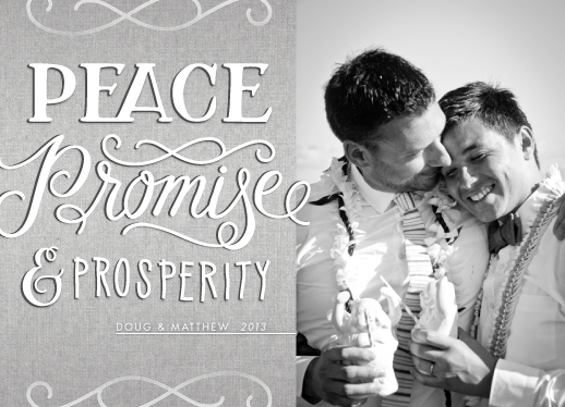 holiday photo cards - Peace, Promise & Prosperity by Jenna Blazevich