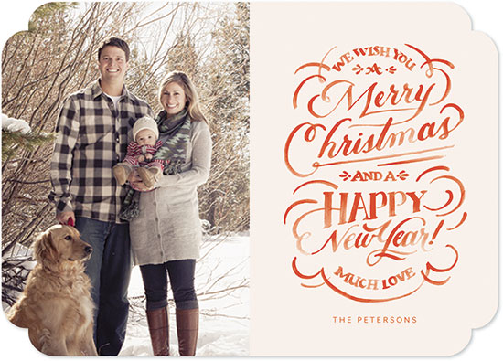 holiday photo cards - Hand Lettered Christmas Wishes by Jill De Haan