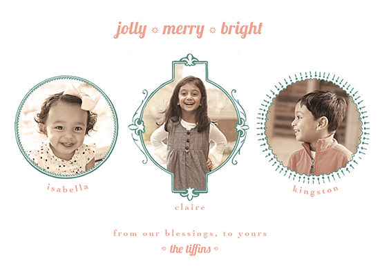 holiday photo cards - jolly merry bright by A Plume to the Wind