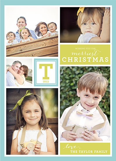 holiday photo cards - Monogram Collage by Danielle Tvetan