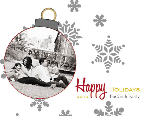 holiday photo cards - Holiday Ornament Card by Anna Cipollone