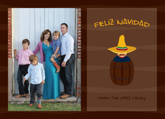holiday photo cards - Nacho Typical Holiday Card by Erin Cline