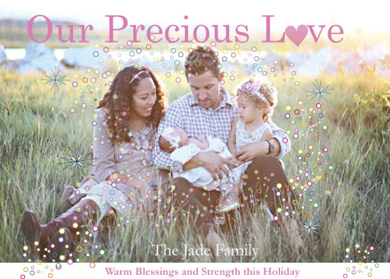 holiday photo cards - Precious Family Love by Pamela Rockett