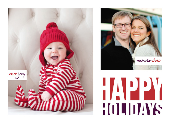 holiday photo cards - A Merry Mod Christmas by Erin Cline