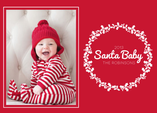 holiday photo cards - Meet Our Santa Baby by Alex Selsor