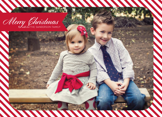 holiday photo cards - Candy Striped Christmas by Alex Selsor