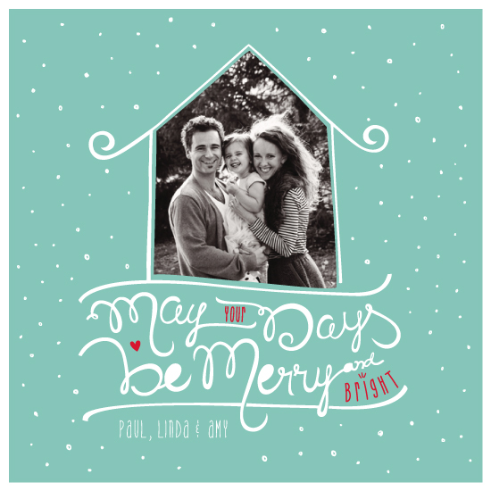 holiday photo cards - Be Merry! by Cinthia Löw