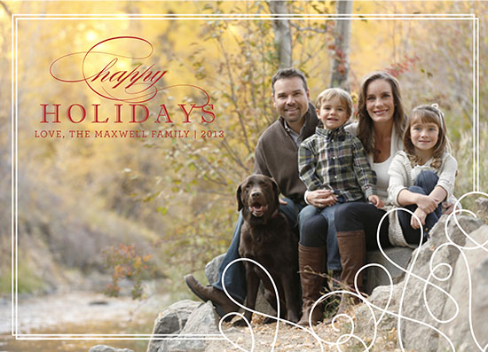 holiday photo cards - Swirls and Lines by Danielle Tvetan