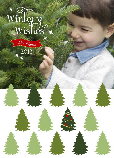 holiday photo cards - Wishing Trees by CBeeProject