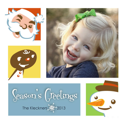 holiday photo cards - Retro Greetings by CBeeProject