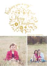 Christmas Wishes Wreath by Danielle Colosimo