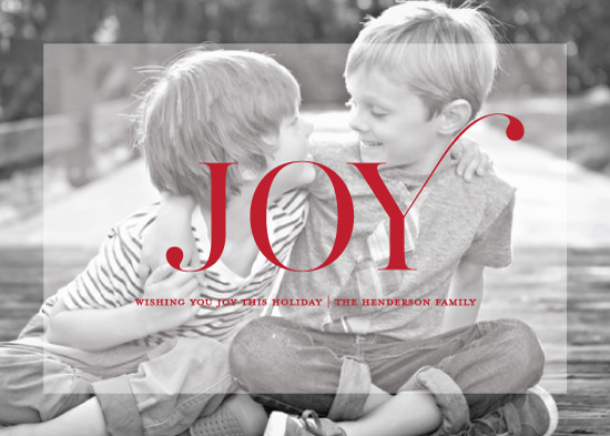 holiday photo cards - The Simple Joy by Chips and Salsa Design Studio