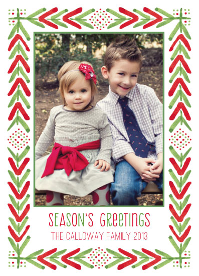 holiday photo cards - Holiday Flora by Margaret McCartney