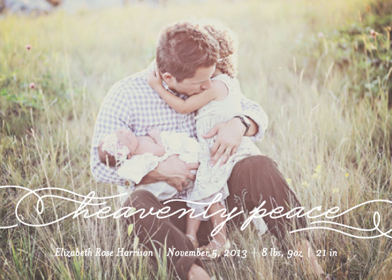 holiday photo cards - Heavenly Peace Slumber by Chips and Salsa Design Studio