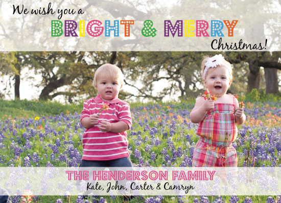 holiday photo cards - Bright & Merry by Summer Smith