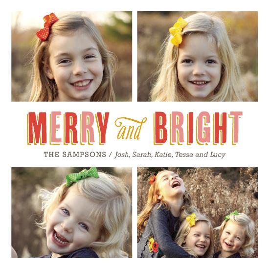 holiday photo cards - So Merry & Bright by Kelly Nasuta