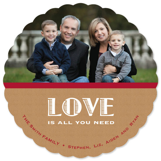 holiday photo cards - Love Is All You Need by Elisabeth Lein