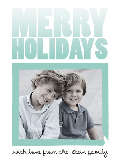 holiday photo cards - Winter Ice Ombre by Elisabeth Lein