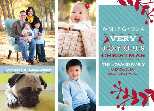 holiday photo cards - Striped Reindeer by Linda Beach