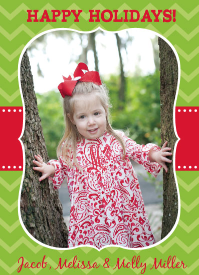 holiday photo cards - Chevron Joy by Summer Smith