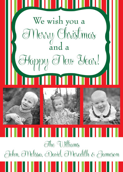 holiday photo cards - Stripes of Cheer by Summer Smith