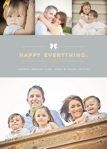 holiday photo cards - Happy Family, Happy Everything by Danielle Colosimo