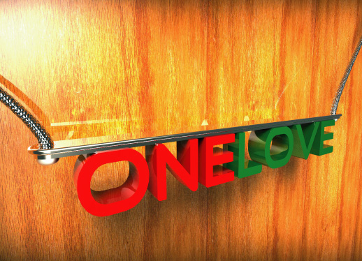 holiday photo cards - ONELOVE by john bergquist