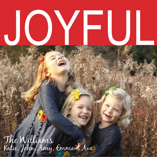 holiday photo cards - Joyful and Bold by Summer Smith
