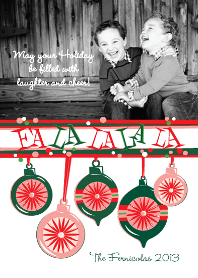 holiday photo cards - FaLa La La La by Tilia Press