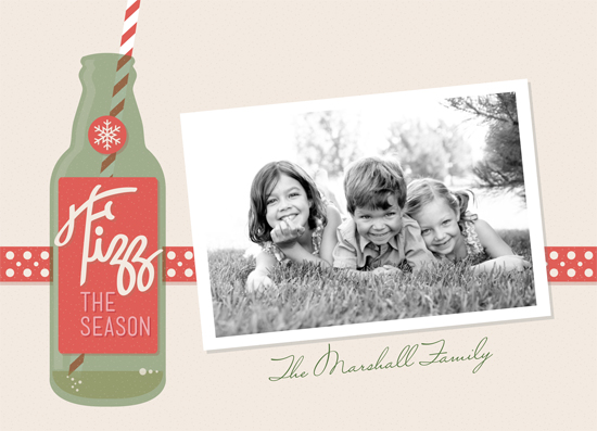 holiday photo cards - Fizz the Season by We Say Things