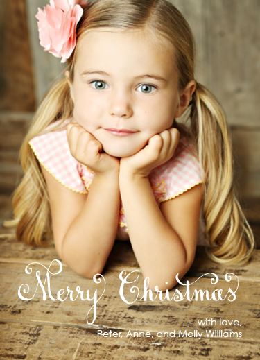 holiday photo cards - Calligraphy Christmas Portrait by Lyndsay Wright