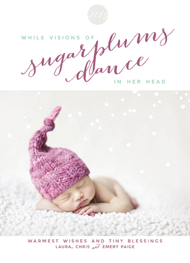 holiday photo cards - Sugarplums Dance by Danielle Colosimo