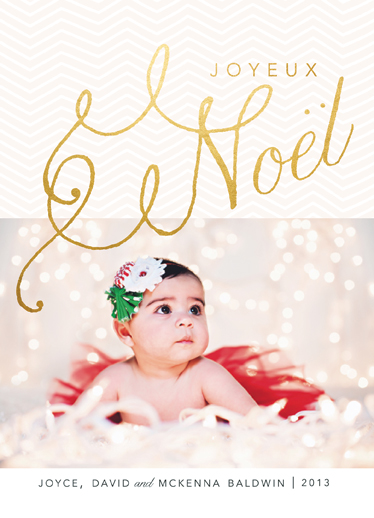 holiday photo cards - Simple Joyeux Noel by Danielle Colosimo