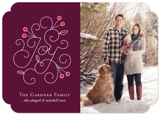 holiday photo cards - Season of Joy by Design Lotus